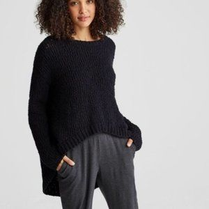 Eileen Fisher • High Low Black Pullover Sweater